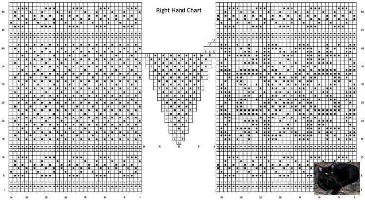 Схемы вязания жаккарда на спицах 595