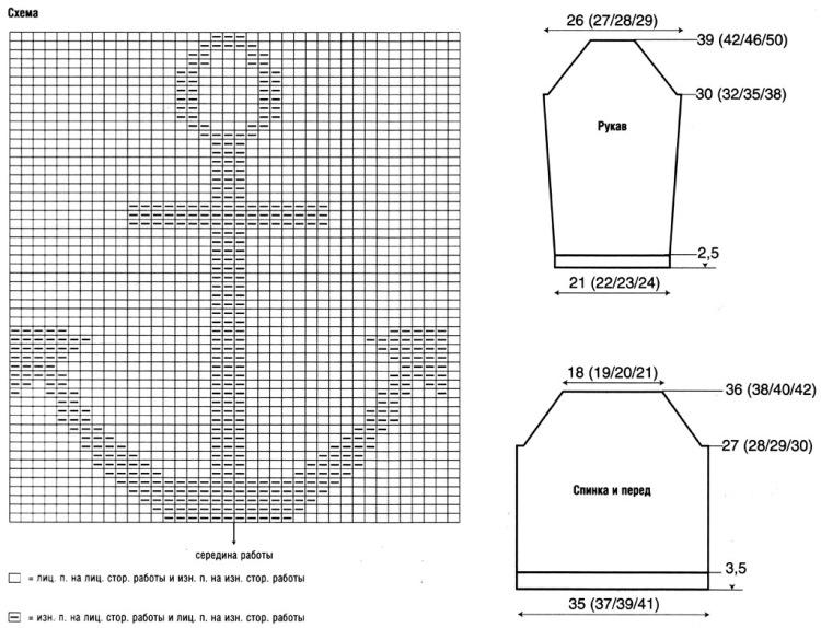 Схемы рисунков на свитер для мальчика. вязание