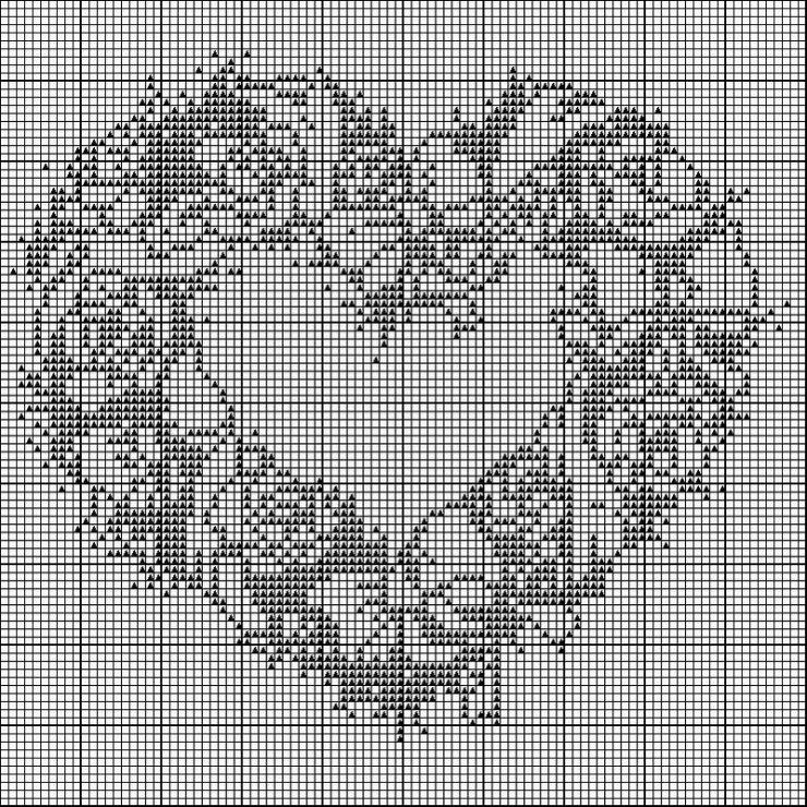 Схемы вышивки монохром сердце