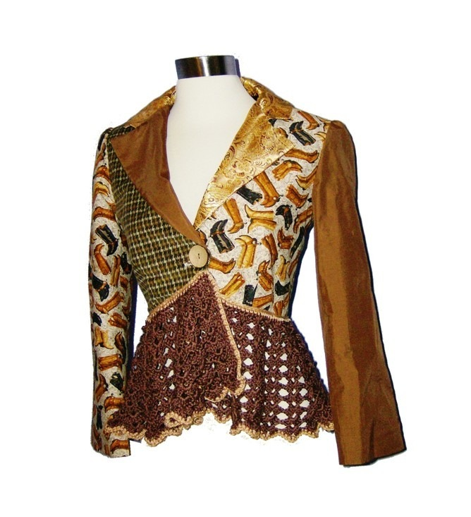 Жилеты комбинированные ткань и вязание