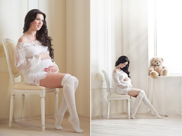 Фотосессии беременной дома фото