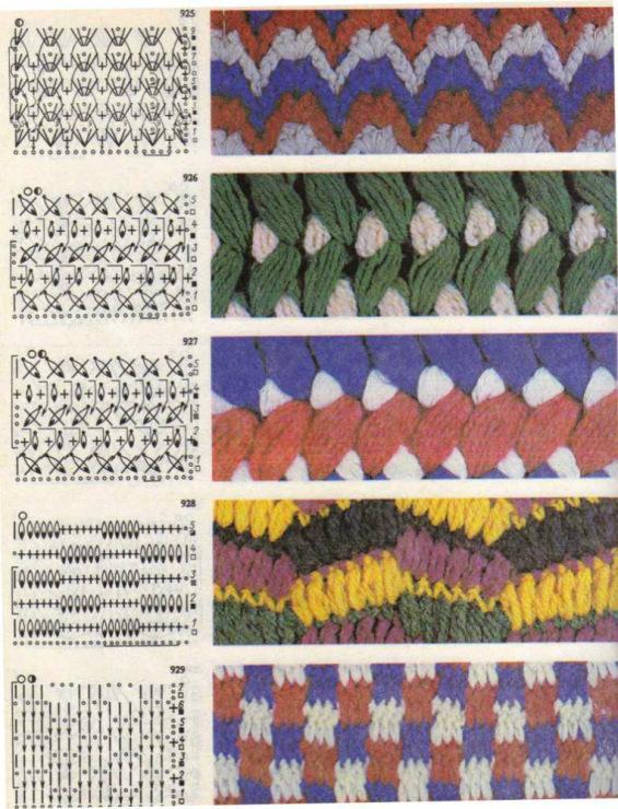 Двухцветный узор при вязании