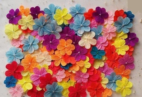 Цветы маленькие своими руками