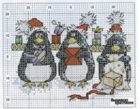 Зимний пейзаж схема вышивки 98