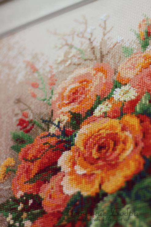 Вышивка чайные розы схема 9