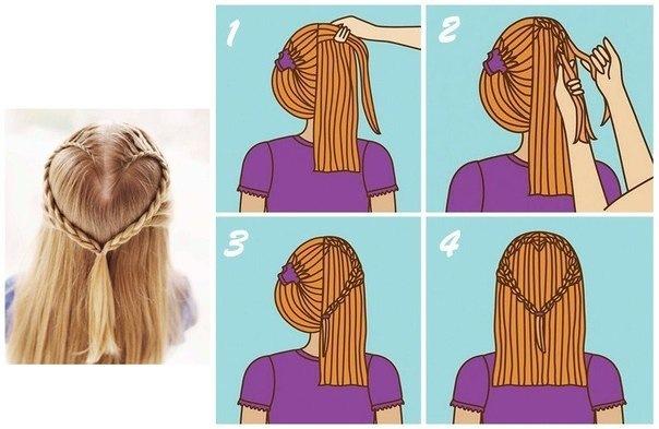 Причёска сердечко на короткие волосы