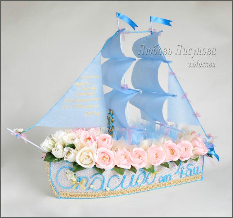 Корабль из конфет подарок 18
