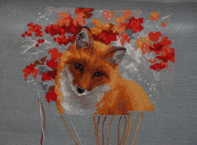 Лисичка вышивка риолис 37