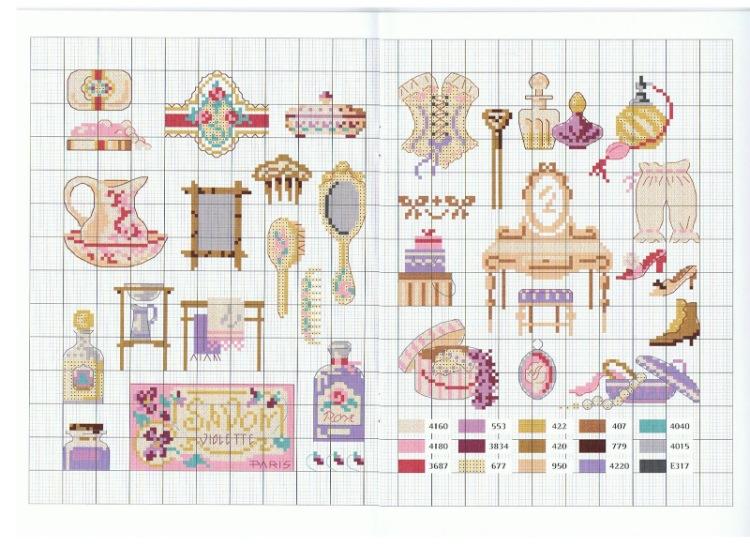 Схемы вышивки для миниатюр 79