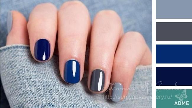 Красивые сочетания лаков на ногтях