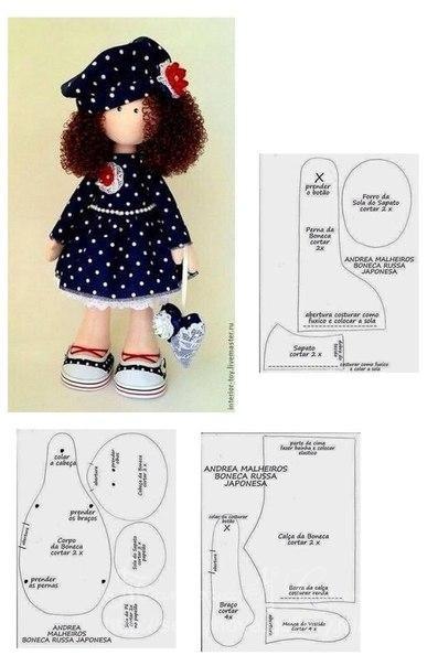 Как сшить куклу большеножку выкройки