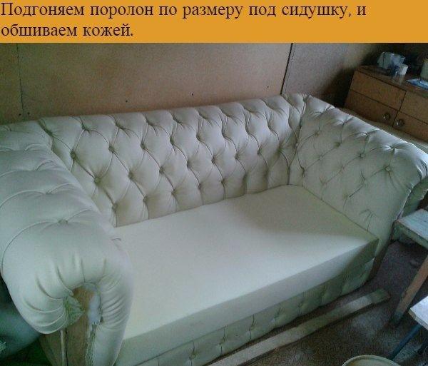 Как обшить диван пошаговая инструкция