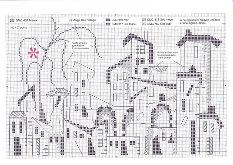 Вышивка крестом монохром пейзаж схемы 994