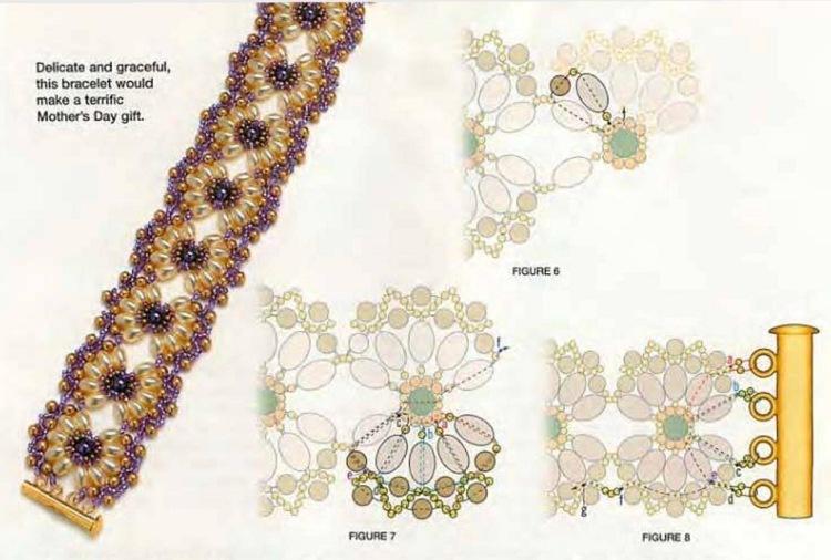 Браслет из бусин и бисера схемы плетения