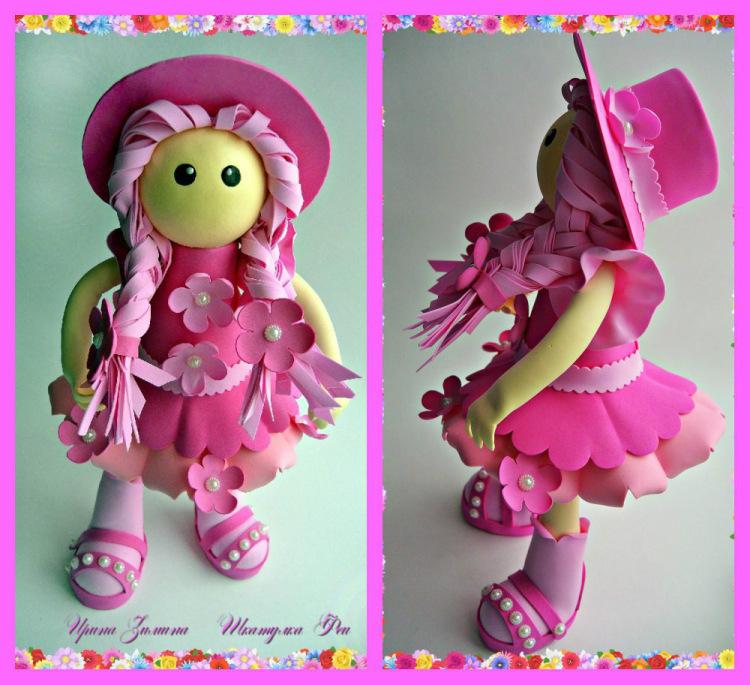 Куклы из фоамирана своими руками с пошаговым фото 7