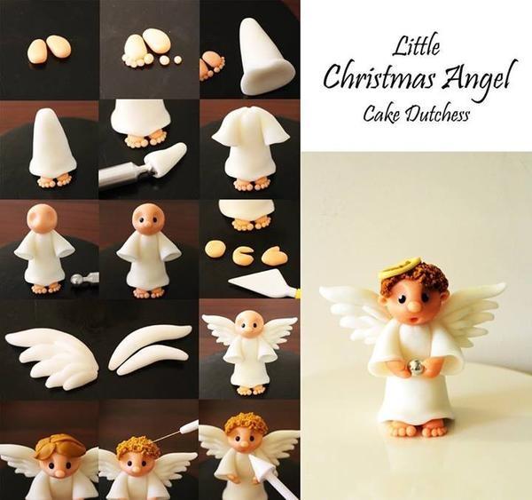 Ангелы из глины своими руками