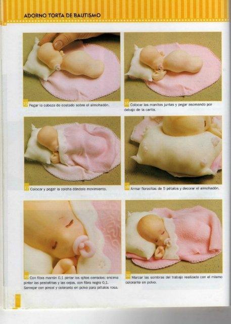 Как сделать из мастики малыша