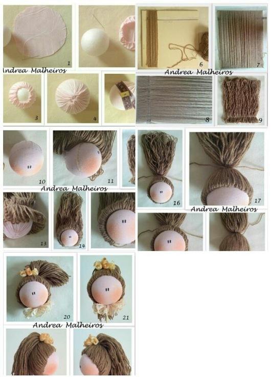 Как сделать из настоящих волос кукле волосы из