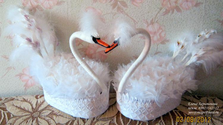Сделать лебедя своими руками на свадьбу