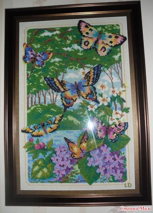 Лес бабочек схема вышивки 46
