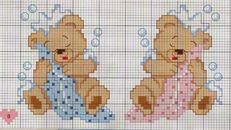 Вышивка для детей мишка 75