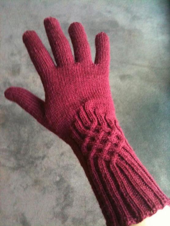 44Вязание перчаток с узорами