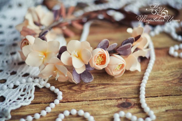 Венки на голову из цветов фоамирана