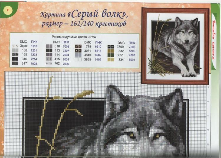 Схема волков вышивка