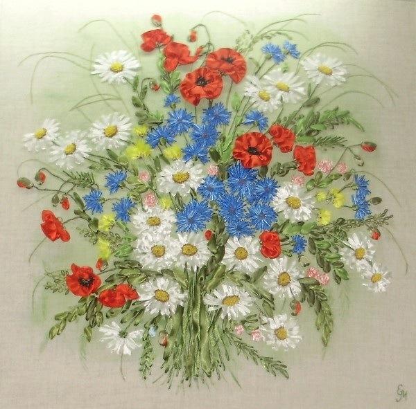 цветы букеты полевые картинка