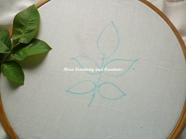 Вышивка листики из лент
