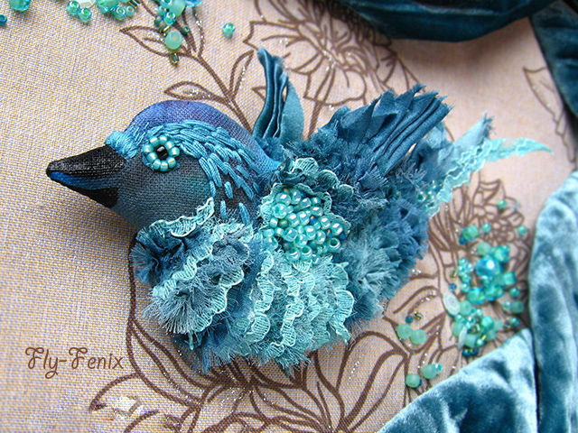 Птица синяя своими руками 44