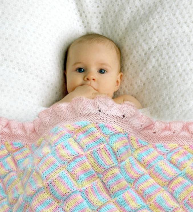 Вязание пледа для новорожденных 66