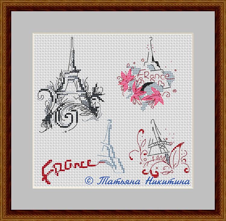 Вышивка по схемам парижских вышивальщиц